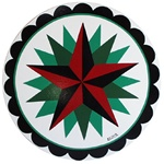 Red and Black Star, with secondary Green Stars, with Circle